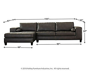 Nokomis 2-Piece Sectional with Chaise, Charcoal, large