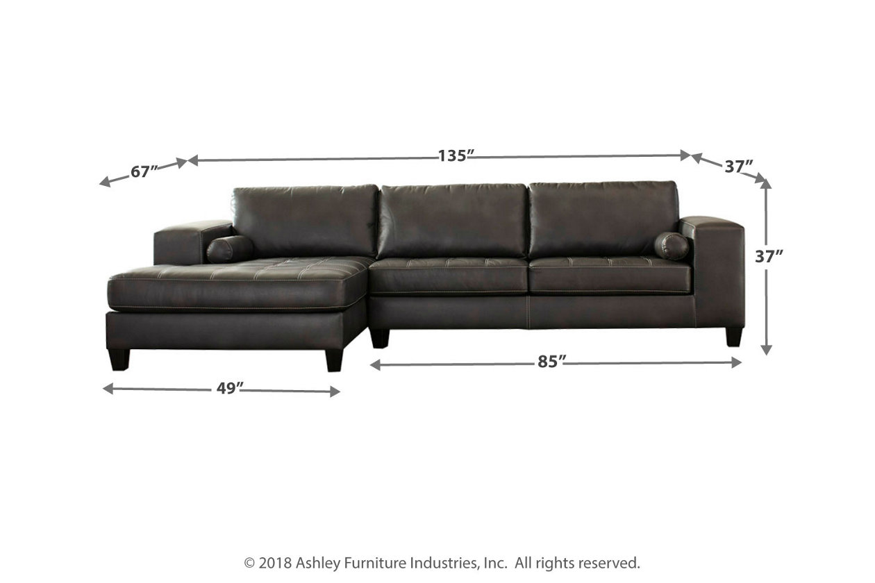 Excellent Nokomis 2 Piece Sectional With Chaise Ashley Furniture Caraccident5 Cool Chair Designs And Ideas Caraccident5Info