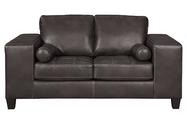 Nokomis Loveseat, Charcoal, large