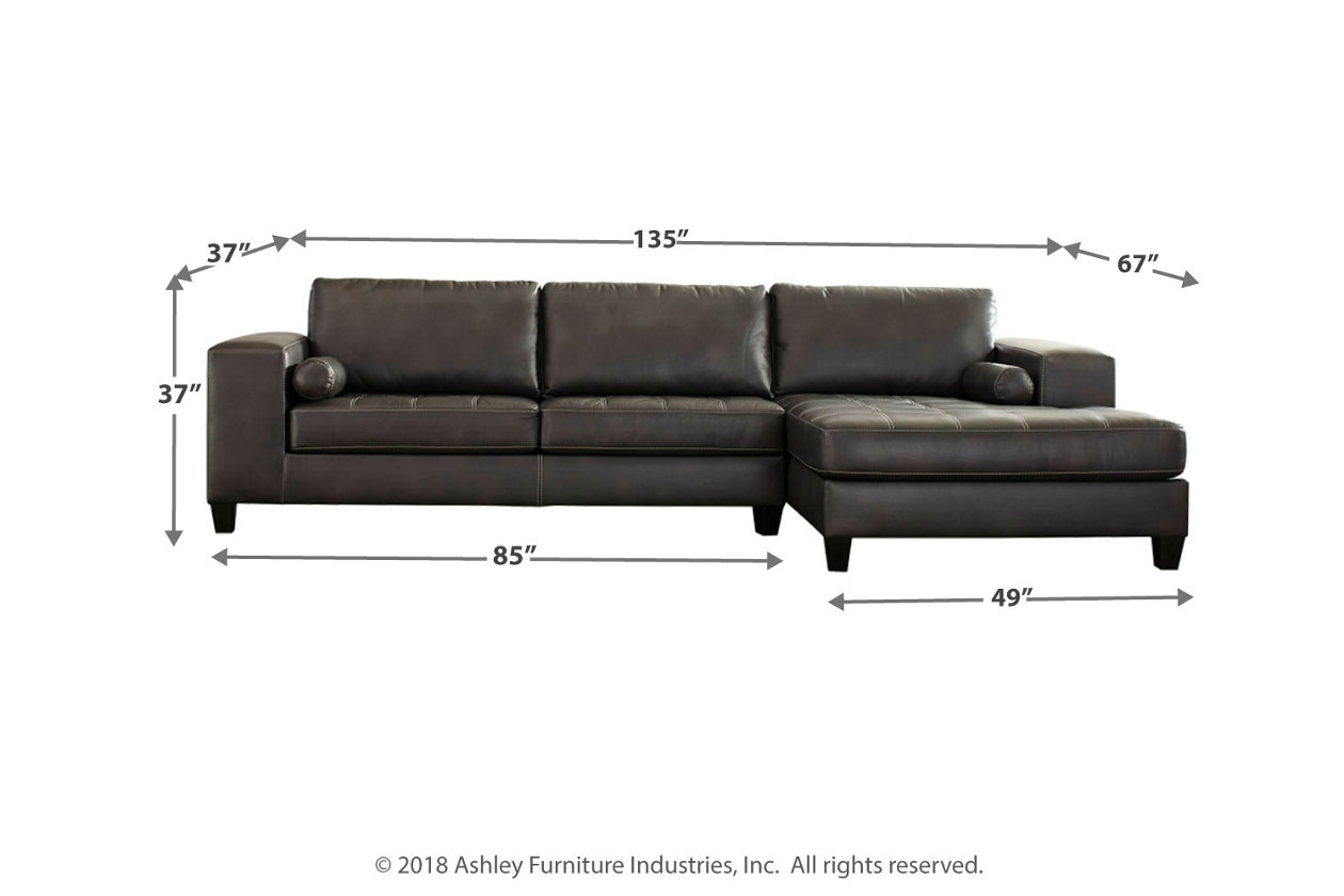 Strange Nokomis 2 Piece Sectional With Chaise Ashley Furniture Pabps2019 Chair Design Images Pabps2019Com