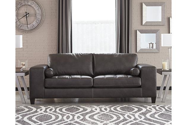 Nokomis Sofa, Charcoal, large
