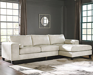 Nokomis 2-Piece Sectional with Chaise, Arctic, rollover