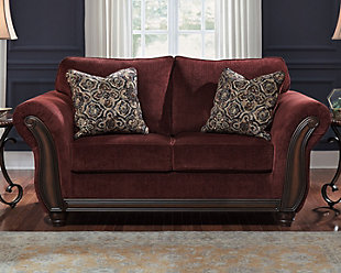 Burgundy Sofa Set Ufe Norton Burgundy Faux Leather 3 Piece