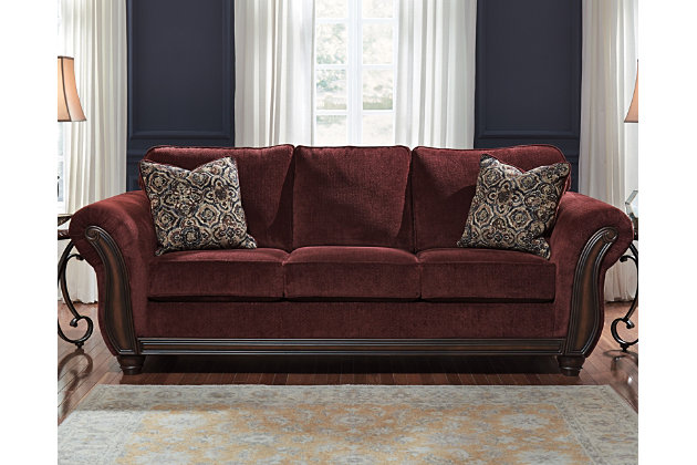 Chesterbrook Sofa by Ashley HomeStore, Red, Polyester (100 %)