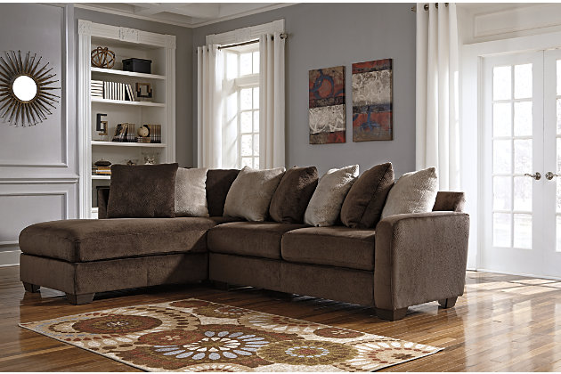 Cello Fabric 2piece Sectional Sofa With Chaise By Eq3 Showing Closeup Of Fabric Homelegance