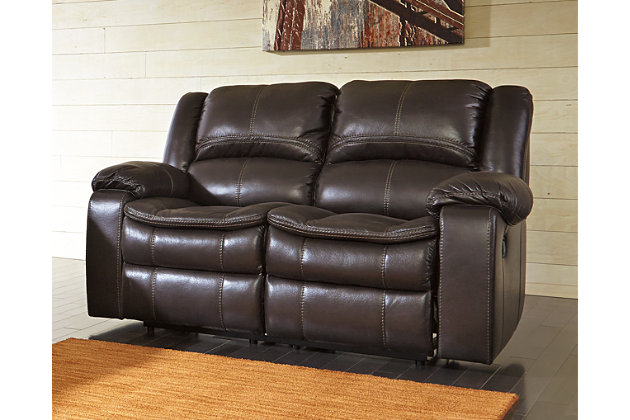Long Knight Reclining Loveseat by Ashley HomeStore, Brown...