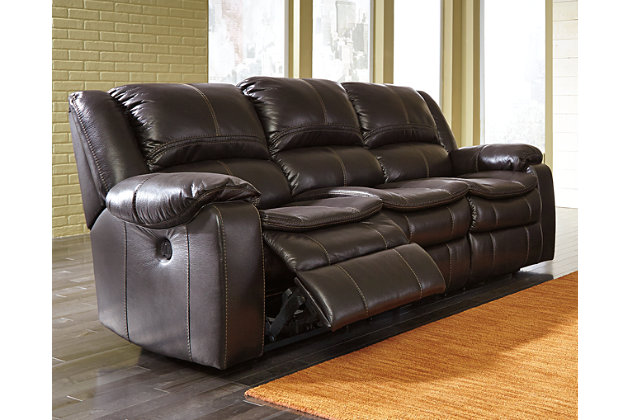 Long Knight Reclining Sofa by Ashley HomeStore, Brown, Polyester/polypurethane