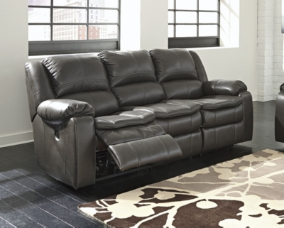 Long Knight Power Reclining Sofa by Ashley HomeStore, Gray