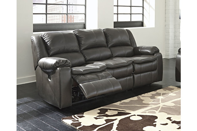 Long Knight Power Reclining Sofa, Gray, large