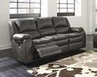 Gray Long Knight Reclining Sofa View 1