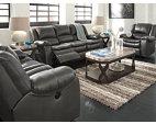 Gray Long Knight Reclining Sofa View 7