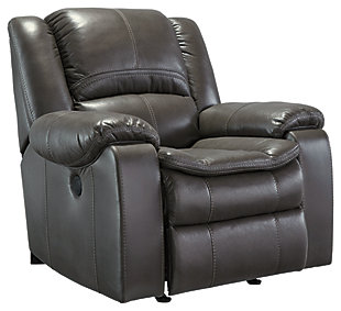 Long Knight Power Recliner, Gray, large