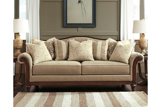 Berwyn view sofa ashley furniture homestore - Pictures of living rooms with sectionals ...