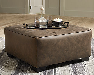 Abalone Oversized Accent Ottoman, , rollover