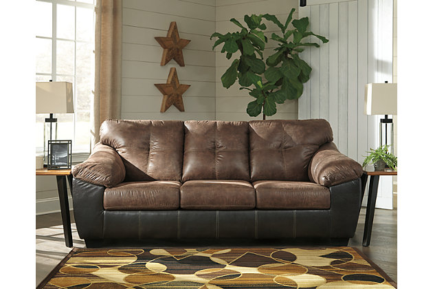 Gregale Sofa, Coffee, large