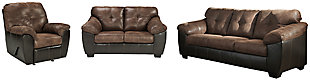 Gregale Sofa, Loveseat and Recliner, , large