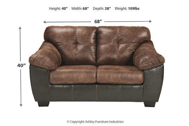 Gregale Loveseat, Coffee, large