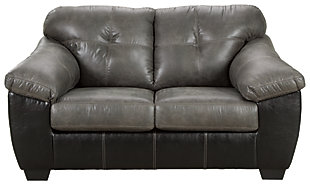 Gregale Loveseat, Slate, large
