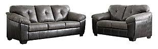 Gregale Sofa, Slate, large