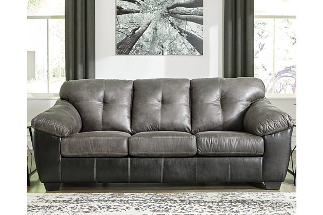 Gregale Sofa and Loveseat, Slate, large