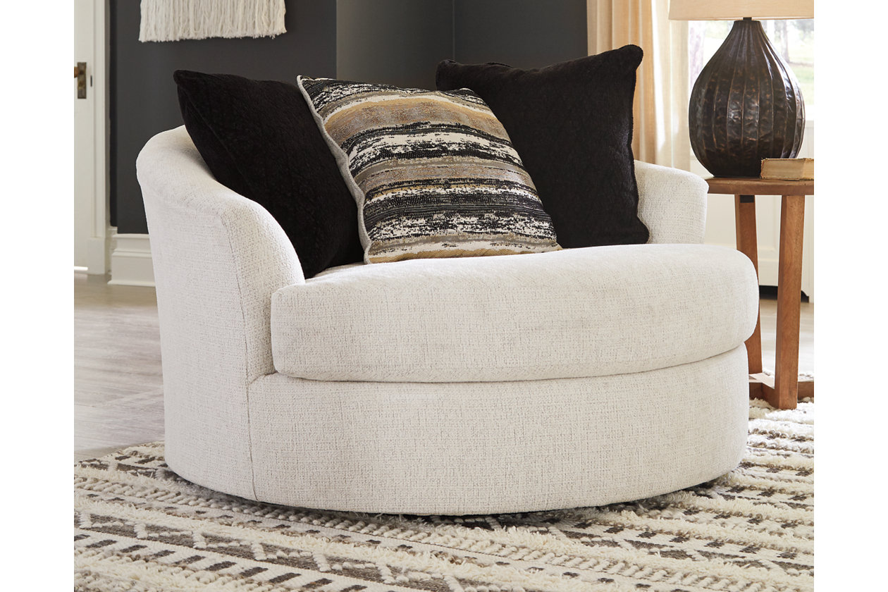 Cambri Oversized Chair Ashley, Round Swivel Chair Living Room