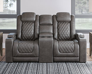 HyllMont Power Reclining Loveseat with Console, , rollover