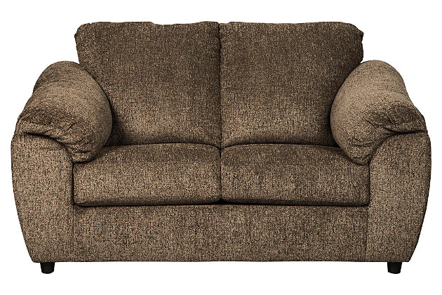 Azaline Loveseat, Umber, large