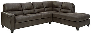 Navi 2-Piece Sleeper Sectional with Chaise, Smoke, large
