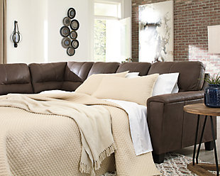 Navi 2-Piece Sleeper Sectional with Chaise, Chestnut, rollover