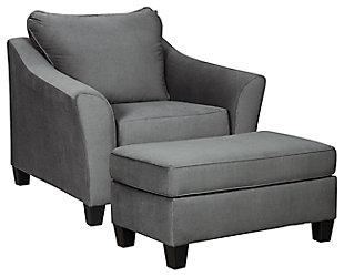 Sanzero Chair and Ottoman, , large