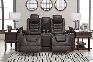 Cave Warrior Power Reclining Loveseat with Console, , rollover