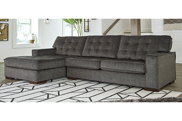 Coulee Point 2 Piece Sectional With, Gray Leather Sectional Ashley Furniture
