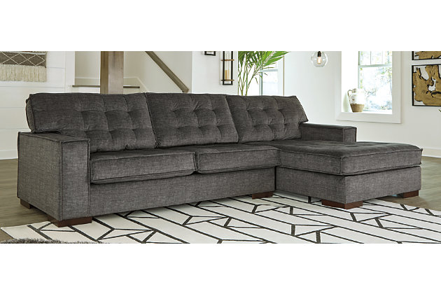 Coulee Point 2 Piece Sectional With, Gray Sectional Couch Ashley Furniture