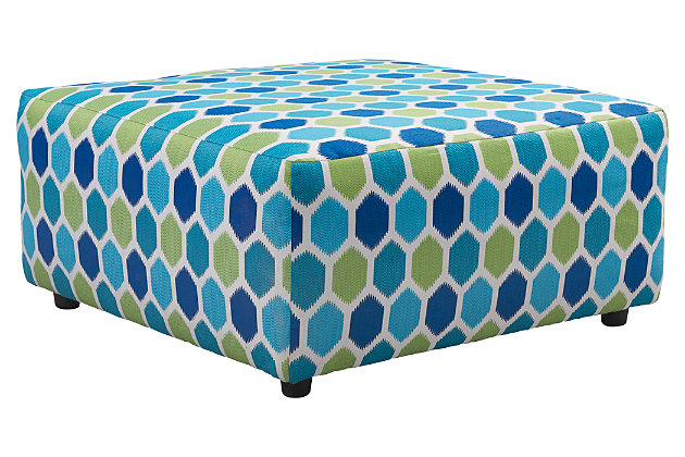 Ayanna Nuvella Oversized Ottoman by Ashley HomeStore, Turquoise, Polyester (100 %)