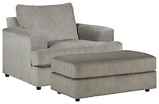 Soletren Chair and Ottoman, , large