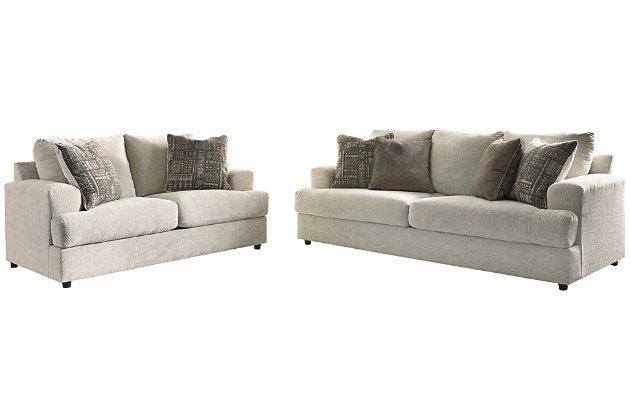 Soletren Sofa and Loveseat, Stone, large