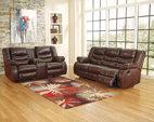 Espresso Linebacker DuraBlend® Reclining Sofa View 3