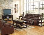 Espresso Linebacker DuraBlend® Reclining Sofa View 5