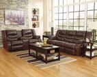Espresso Linebacker DuraBlend® Reclining Sofa View 4