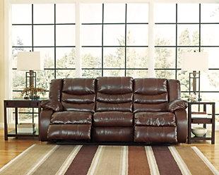 ... Linebacker DuraBlend® Reclining Sofa, Espresso, Large ...