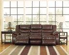 Espresso Linebacker DuraBlend® Reclining Sofa View 2