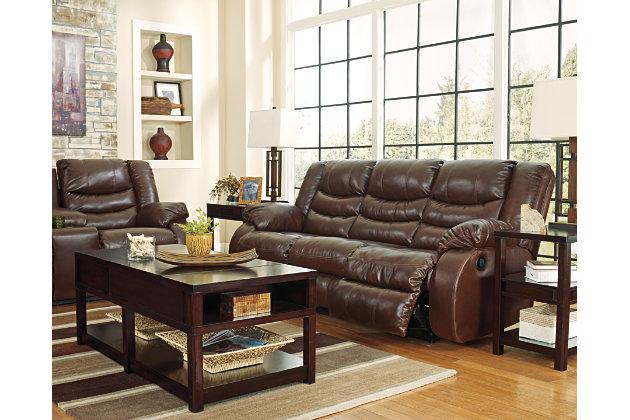 Espresso Linebacker DuraBlend® Reclining Sofa View 8
