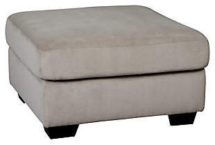 Dailey Oversized Ottoman, Alloy, large