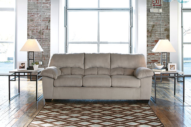 Dailey Sofa by Ashley HomeStore, Gray, Polyester (100 %)