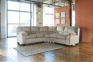 Dailey 2-Piece Sectional, Alloy, rollover