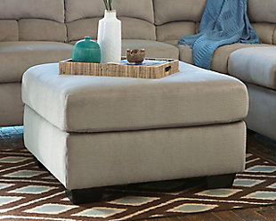 Dailey Oversized Ottoman, Alloy, rollover
