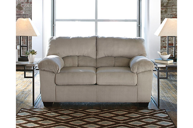 Dailey Loveseat, Alloy, large