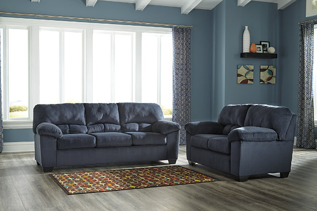 Dailey Sofa and Loveseat by Ashley HomeStore, Black