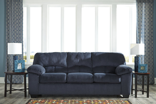 Dailey Sofa by Ashley HomeStore, Black, Polyester (100 %)