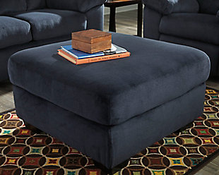 Dailey Oversized Ottoman, Midnight, rollover